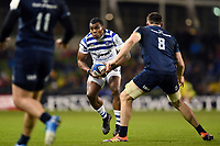 Semesa Rokoduguni of Bath Rugby in possession. Heineken Champions Cup match, between Leinster Rugby and Bath Rugby on December 15, 2018 at the Aviva Stadium in Dublin, Republic of Ireland. Photo by: Patrick Khachfe / Onside Images