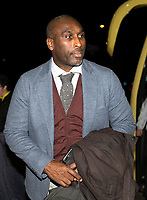 3rd December 2019; Pirelli Stadium, Burton Upon Trent, Staffordshire, England; English League One Football, Burton Albion versus Southend United; Manager of Southend United Sol Campbell arriving at the Pirelli Stadium before the match - Strictly Editorial Use Only. No use with unauthorized audio, video, data, fixture lists, club/league logos or 'live' services. Online in-match use limited to 120 images, no video emulation. No use in betting, games or single club/league/player publications