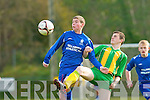 Creagh Courtney Athletic controls under pressure from Jason Murphy Ballingarry during their FAI cup clash in Woodlawn on Saturday