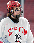 Brien Diffley (BU - 20) - The Boston University Terriers practiced on the rink at Fenway Park on Friday, January 6, 2017.The Boston University Terriers practiced on the rink at Fenway Park on Friday, January 6, 2017.