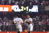 SÃO PAULO, SP, 10 DE MAIO DE 2012 - COPA DO BRASIL - SÃO PAULO x PONTE PRETA: Lucas comemora gol durante partida São Paulo x Ponte Preta, válido pelas oitavas de final da Copa do Brasil em jogo realizado no Estádio do Morumbi. FOTO: LEVI BIANCO - BRAZIL PHOTO PRESS