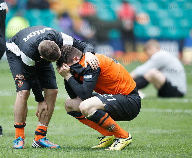 Tears from Dundee Utd striker Nadir Ciftci