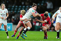 Marlie Packer of England takes on the Canada defence. Old Mutual Wealth Series International match between England Women and Canada Women on November 26, 2016 at Twickenham Stadium in London, England. Photo by: Patrick Khachfe / Onside Images