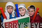"ON GAURD; Liam Claffey, Max Pardoe and Philip Flaherty getting in to  acting mode during  the Kilmoyley National School production of  ""Joseph and his Amazing Technicolor Dreamcoat"" which was staged in Ballyheigue Community Centre on Thursday night.."
