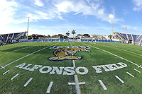 30 March 2012:  The logo at the center of Alfonso Field at the FIU Football Spring Game at University Park Stadium in Miami, Florida.