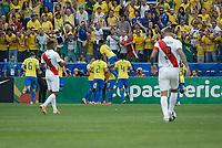 SÃO PAULO, SP 22.06.2019: PERU-BRASIL - Firmino comemora gol. Peru e Brasil durante partida válida pela terceira rodada do grupo A da Copa América Brasil 2019, que acontece na Arena Corinthians, zona leste da capital paulista na tarde deste sábado (22). (Foto: Ale Frata/Código19)