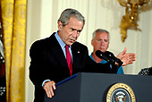 Washington, D.C. - June 20, 2007 -- United States President George W. Bush makes remarks on his veto of S. 5 - The Stem Cell Research Enhancement Act of 2007 in the East Room of the White House in Washington, DC on Wednesday, June 20, 2007.<br /> Credit: Ron Sachs / CNP
