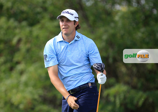 Peter Uihlein (USA) on the 6th tee during Round 1 of the D+D Real Czech Masters at the Albatross Golf Resort on Thursday 27th August 2015.<br /> Picture:  Thos Caffrey / www.golffile.ie