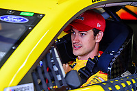 July 15, 2017 - Loudon, New Hampshire, U.S. - Joey Logano, Monster Energy NASCAR Cup Series driver of the Shell Pennzoil Ford (22), sits in his car the NASCAR Monster Energy Overton's 301 practice round held at the New Hampshire Motor Speedway in Loudon, New Hampshire. Larson placed first in the qualifier. Eric Canha/CSM