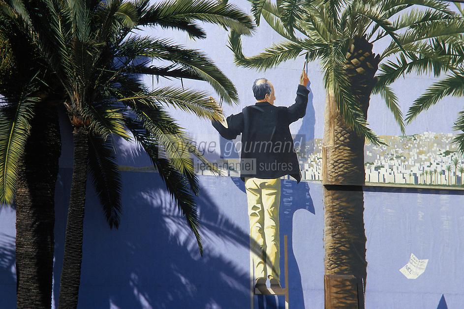 Europe/France/Provence-Alpes-Côte d'Azur/06/Alpes-Maritimes/Nice: Trompe l'oeil sur la promenade des anglais