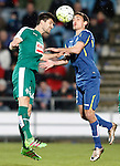 Getafe's Stefan Scepovic (r) and Sociedad Deportiva Eibar's Adrian Gonzalez during La Liga match. March 18,2016. (ALTERPHOTOS/Acero)