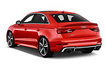 Car pictures of rear three quarter view of a 2017 Audi RS 3 Base 4 Door Sedan angular rear
