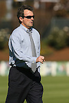08 November 2009: UNC head coach Anson Dorrance. The University of North Carolina Tar Heels defeated the Florida State University Seminoles 3-0 at WakeMed Stadium in Cary, North Carolina in the Atlantic Coast Conference Women's Soccer Tournament Championship game.