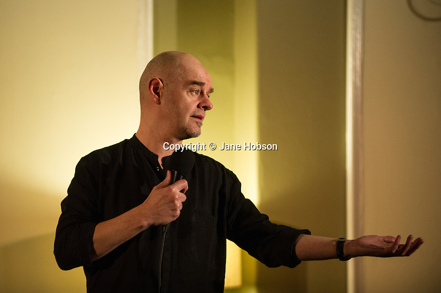 Harrogate, UK. 13.02.2013. Sitting Room Comedy hosts MC Tom Taylor, Paul Thorne, Alan Francis and, headliner, Gary Delaney. Picture shows: Paul Thorne. Photo credit: Jane Hobson.