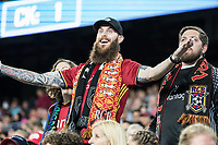 FOXBOROUGH, MA - SEPTEMBER 21: Real Salt Lake fans during a game between Real Salt Lake and New England Revolution at Gillette Stadium on September 21, 2019 in Foxborough, Massachusetts.