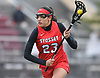 Sofia Afkham #23 of Syosset races downfield during a Nassau County varsity girls lacrosse game against host Garden City High School on Saturday, April 1, 2017. Garden City won by a score of 13-9. (Note to editor: Game was shot in place of assigned Farmingdale-North Shore matchup, which I learned was canceled upon arriving at Farmingdale HS)