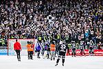 Solna 2014-03-16 Bandy SM-final herrar Sandvikens AIK - V&auml;ster&aring;s SK :  <br /> Sandvikens supportrar jublar tillsammans med Sandvikens spelare efter slutsignalen<br /> (Foto: Kenta J&ouml;nsson) Nyckelord:  SM SM-final final herr herrar VSK V&auml;ster&aring;s SAIK Sandviken  jubel gl&auml;dje lycka glad happy supporter fans publik supporters