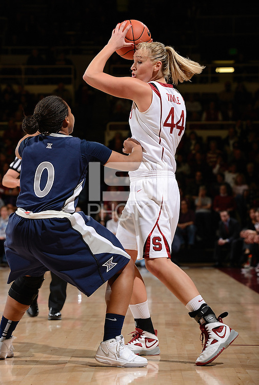 STANFORD, CA - DECEMBER 28: Joslyn Tinkle of Stanford women's basketball on offense in a game against Xavier on December 28, 2010 at Maples Pavilion in Stanford, California.  Stanford topped Xavier, 89-52.