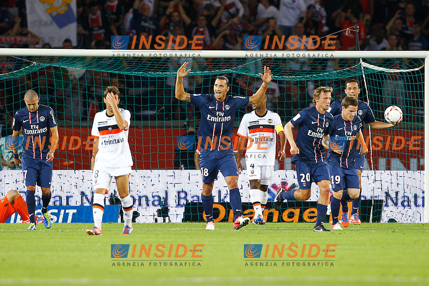 Zlatan Ibrahimovic (PSG) .11/08/2012 Parigi.Campionato Francese di Lega 1 .Paris Saint Germain vs Lorient .Foto Insidefoto /  Gwendoline Le Goff / Panoramic..Italy Only