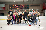 Hockey Alumni<br /> Back from Left to Right: Alex MacNicol, Frank Meyers, Dave Shawn, Bing Carlson, Dennis Corbett, David Farnsworth, Jake Peterson<br /> Front Row Left to Right: John Sebok, Pete Sisson, Mike Grocki, Joe Zieleniewski, Tom Gosiorowski, Harry Williams