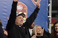 December 7, 2013  (Charlotte, North Carolina)  Florida State Seminoles head coach Jimbo Fisher celebrates winning the 2013 ACC Championship after his team defeated the Duke Blue Devils 45-7 at the Bank of America Stadium in Charlotte, NC.  (Photo by Don Baxter/Media Images International)