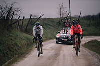 Greg Van Avermaet (BEL/BMC) & teammates during reconnaissance of the 12th Strade Bianche 2018