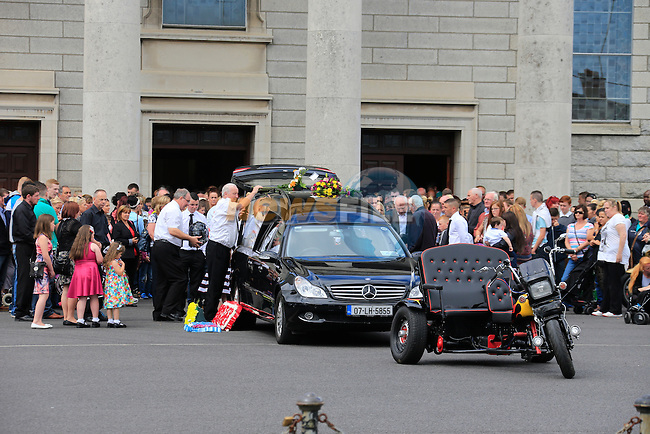 The Funeral of Gareth Reid (McGuirke) in Our lady of Lourdes Church in Drogheda. who died after a swimming accident last Week.<br /> Picture: www.newsfile.ie