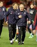 08.05.2018 Aberdeen v Rangers: Jonatan Johannson and Jimmy Nicholl