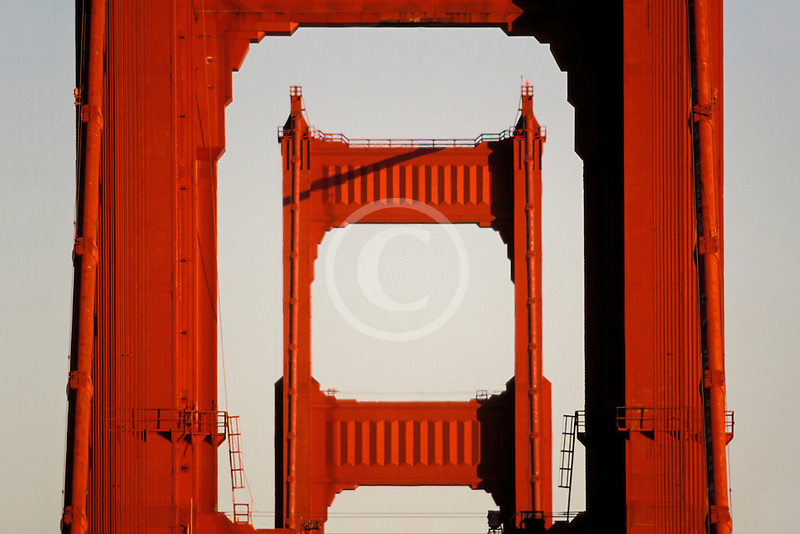 California, San Francisco, Golden Gate Bridge towers