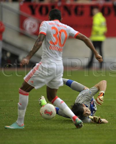 20.10.2012. Dusseldorf, Germany.  Dusseldorf versus  FC Bayern Munich.    Luis Gustavo FC Bayern Munich scores for 2-0