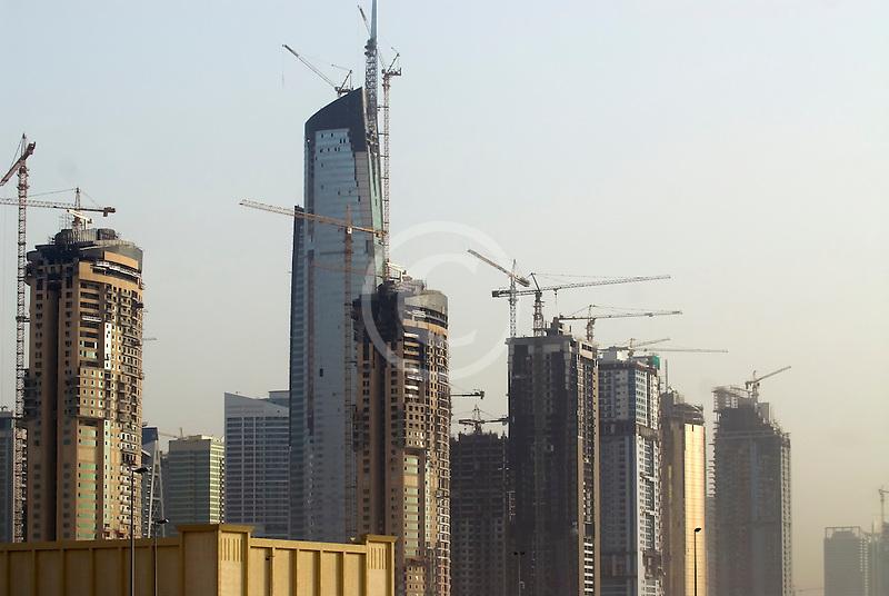 United Arab Emirates, Dubai, Dubai Marina, construction site