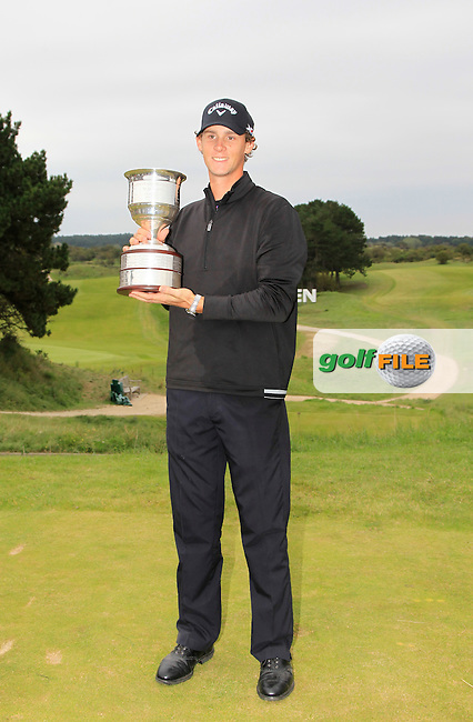 Thomas Pieters (BEL) is the winner of the 2015 KLM Open at the Kennemer Golf &amp; Country Club in The Netherlands on 13/09/15.<br /> Picture: Thos Caffrey | Golffile