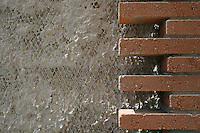Contemporary usage of traditional bricks.
