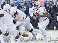 PHILADELPHIA, PA - DEC 9, 2017: Army Black Knights quarterback Ahmad Bradshaw (17) looks to run the ball during game between Army and Navy at Lincoln Financial Field Philadelphia, PA. Army defeated Navy 14-13 to win the Commander in Chief Cup. (Photo by Phil Peters/Media Images International)
