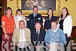 SAFE DRIVING: JJ Breen and Dermot Ryle of Tralee who were presented with special safe driving awards and certificates by Des Tulla, human resources manager, Bus.Eireann (seated centre) at the Bus Eireann Awards ceremony at the Grand Hotel, Tralee, on Thursday night. Also in pic, back l-r: Peggy Ryle, Lucy Breen, Kieran O'Connell,.Miriam Flynn and Blaithin McElligott.