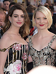 "Anne Hathaway anf Mia Wasikowska attends The Premiere Of Disney's ""Alice Through The Looking Glass"" held at The El Capitan Theatre  in Hollywood, California on May 23,2016                                                                               © 2016 Hollywood Press Agency"