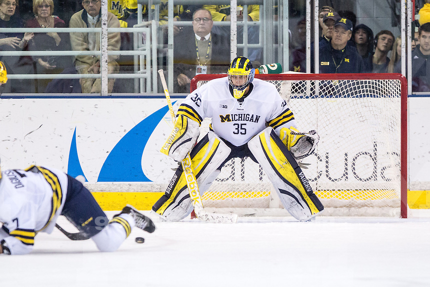 10/25/13 The University of Michigan ice hockey team defeats Boston University, 2-1, at Yost Ice Arena in Ann Arbor, Mich.