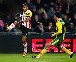 Nederland, Eindhoven, 2 februari 2013.Eredivisie.Seizoen 2012-2013.PSV-ADO Den Haag (7-0).Jeremain Lens van PSV in actie met bal.