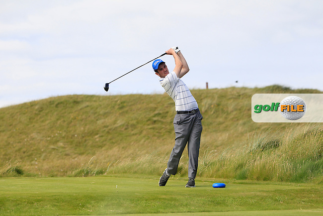 Jamie Sutherland (Galgorm Castle) on the 14th tee during Round 2 of the South of Ireland Amateur Open Championship at LaHinch Golf Club on Thursday 23rd July 2015.<br /> Picture:  Golffile | Thos Caffrey