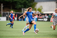 Seattle, WA - Sunday, August 13, 2017: Katlyn Johnson during a regular season National Women's Soccer League (NWSL) match between the Seattle Reign FC and the North Carolina Courage at Memorial Stadium.
