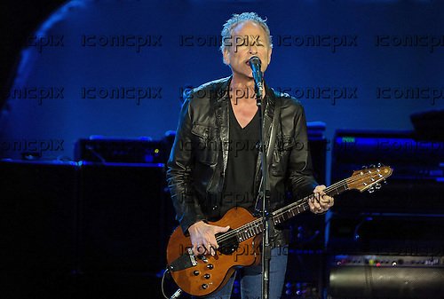 Fleetwood Mac guitarist / vocalist Lindsey Buckingham performing live at the O2 London UK - 25 September 2013.  Photo credit: Iain Reid/IconicPix