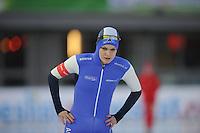 SCHAATSEN: AMSTERDAM: Olympisch Stadion, 28-02-2014, KPN NK Sprint/Allround, Coolste Baan van Nederland, Bo van der Werff, ©foto Martin de Jong