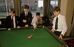 Wymondham College in Norfolk State run boarding school.1990s UK  1991  SNOOKER.