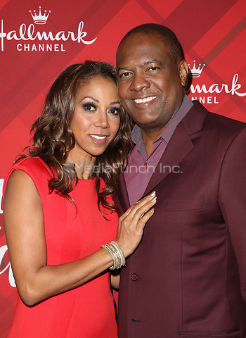LOS ANGELES, CA - DECEMBER 4: Holly Robinson Peete, Rodney Peete, at Screening Of Hallmark Channel's 'Christmas At Holly Lodge' at The Grove in Los Angeles, California on December 4, 2017. Credit: Faye Sadou/MediaPunch