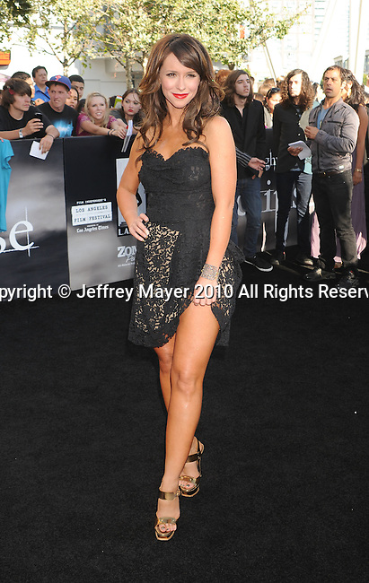 "LOS ANGELES, CA. - June 24: Jennifer Love Hewitt arrive to the premiere of ""The Twilight Saga: Eclipse"" during the 2010 Los Angeles Film Festival at Nokia Theatre L.A. Live on June 24, 2010 in Los Angeles, California."