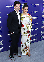 BRENTWOOD, LOS ANGELES, CA, USA - JUNE 07: Max Greenfield, Tess Sanchez at the 13th Annual Chrysalis Butterfly Ball held at Brentwood County Estates on June 7, 2014 in Brentwood, Los Angeles, California, United States. (Photo by Xavier Collin/Celebrity Monitor)