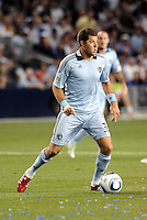 Luke Sassano Sporting KC...Sporting KC were held to a scoreless tie with Chicago Fire in the inauguarl game at LIVESTRONG Sporting Park, Kansas City, Kansas.