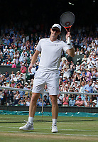 Top seeds Jamie Murray (GBR) (with partner Martina Hingis) (SUI) celebrate their victory against Ken Skupski (GBR) and Jocelyn Rae (GBR),  6-4, 6-4<br /> <br /> Photographer Ashley Western/CameraSport<br /> <br /> Wimbledon Lawn Tennis Championships - Day 10 - Thursday 13th July 2017 -  All England Lawn Tennis and Croquet Club - Wimbledon - London - England<br /> <br /> World Copyright &not;&copy; 2017 CameraSport. All rights reserved. 43 Linden Ave. Countesthorpe. Leicester. England. LE8 5PG - Tel: +44 (0) 116 277 4147 - admin@camerasport.com - www.camerasport.com