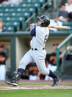 Charlotte Knights Second Baseman Luis Rodriguez (6) at bat during a game vs. the Rochester Red Wings at Frontier Field in Rochester, New York;  June 17, 2010.   Charlotte defeated Rochester by the score of 9-2.  Photo By Mike Janes/Four Seam Images