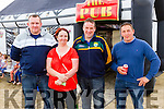 Pictured at the Michael Freemantle Tag Rugby Memorial on Sunday at Cashen Strand, was L-R: Daniel Flynn, Joanne O'Neill, Mike Scanlon, Ballyduff, Conor Scanlon, Ballybunion.